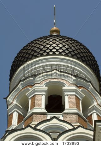 Alexander Nevsky Church Cupola In Tallinn Estonia