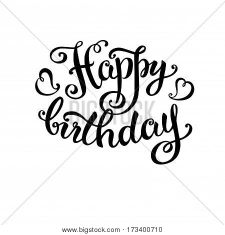 Happy Birthday -hand Lettering, Handmade Calligraphy