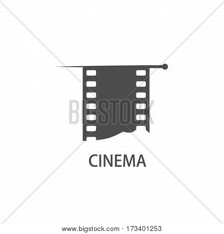 cinematic theme. Vintage background with film frame. Vector