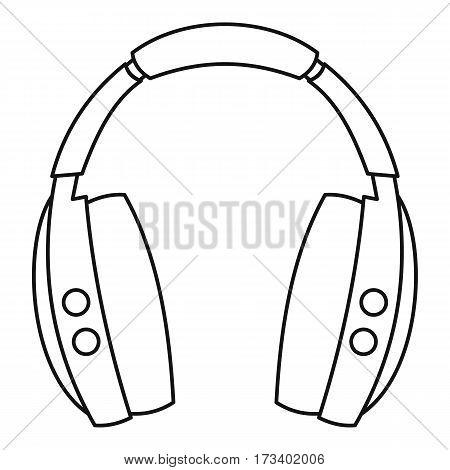 Wireless headphones icon. Outline illustration of wireless headphones vector icon for web