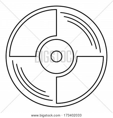 Blank vinyl record icon. Outline illustration of blank vinyl record vector icon for web
