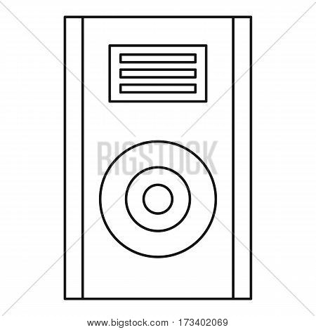 Audio speaker icon. Outline illustration of audio speaker vector icon for web