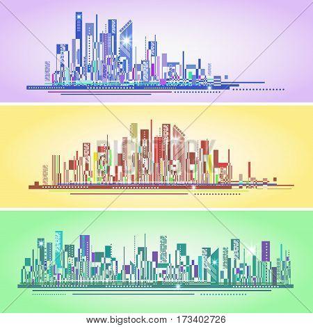 Abstract City Skyline , Vector Illustration