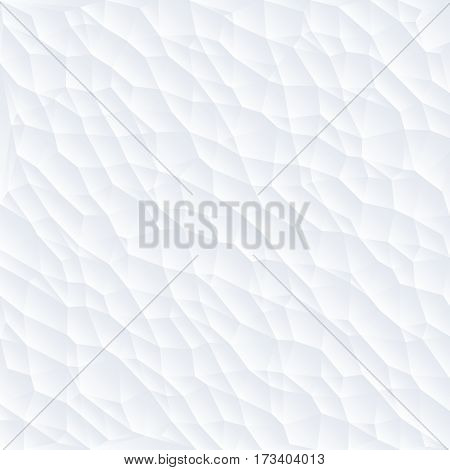 White polygon abstract triangulated background vector illustration