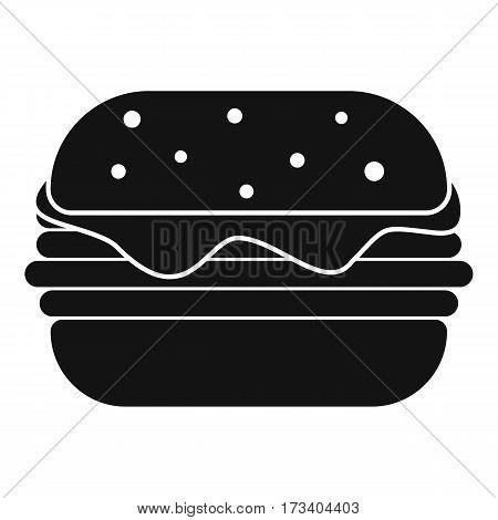 Hamburger icon. Simple illustration of hamburger vector icon for web