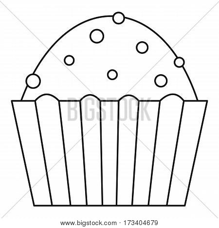 Muffin cake icon. Outline illustration of muffin cake vector icon for web