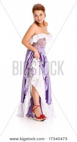 Junge attraktive Frau im Ball-Kleid.