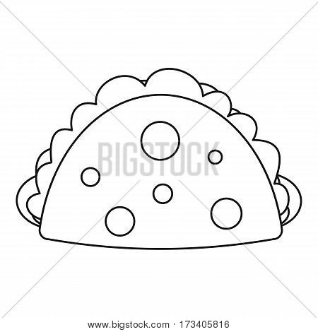 Meat pie icon. Outline illustration of meat pie vector icon for web