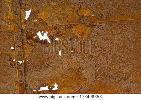 Rusty background - an old corroded roof.
