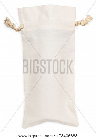 Fabric Cotton Bag Isolated On White