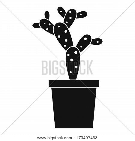 Opuntia icon. Simple illustration of opuntia vector icon for web