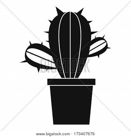 Cactus houseplants in pot icon. Simple illustration of cactus houseplants in pot vector icon for web
