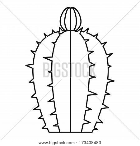 Blooming cactus icon. Outline illustration of blooming cactus vector icon for web