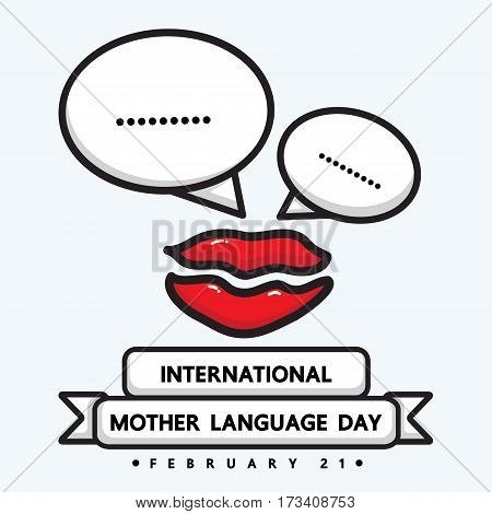 International mother language day. vector design for international day