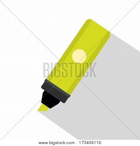 Highlighter icon. Flat illustration of highlighter vector icon for web isolated on white background