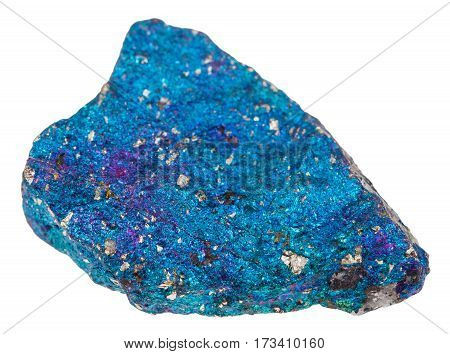 Specimen Of Blue Chalcopyrite Stone Isolated