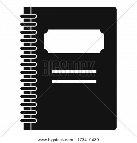 Closed spiral notebook icon. Simple illustration of closed spiral notebook vector icon for web