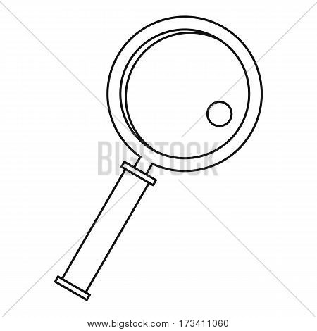 Magnifier icon. Outline illustration of magnifier vector icon for web