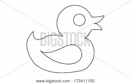 Pictogram - Duck, Rubber duck, Rubber duckie, Rubber duckling, Duckie, Ducky - Object Icon Symbol
