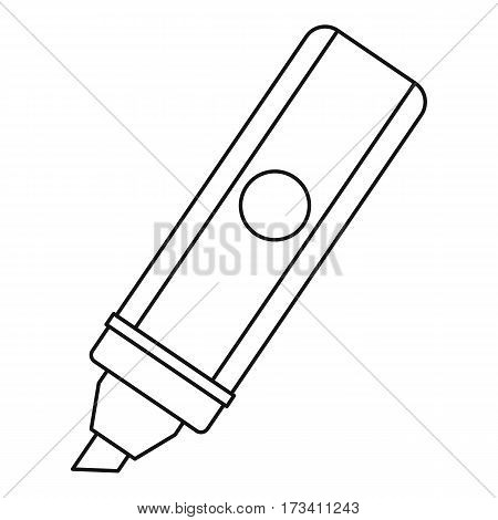 Marker icon. Outline illustration of marker vector icon for web