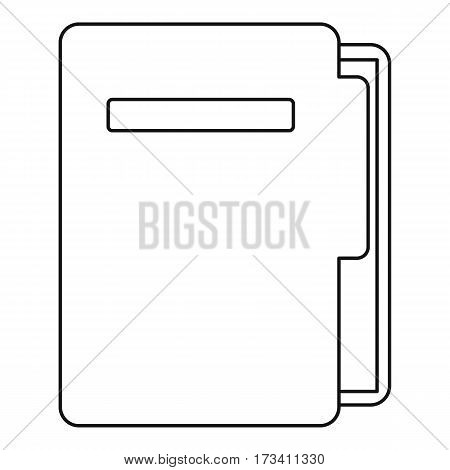 Document folder icon. Outline illustration of document folder vector icon for web