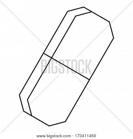 Eraser icon. Outline illustration of eraser vector icon for web