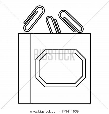 Paper clips icon. Outline illustration of paper clips vector icon for web