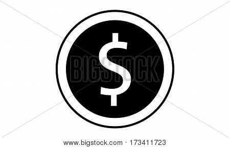 Pictogram - Dollar Coin Change Exchange Money - Object Icon Symbol