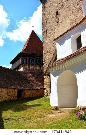 Fortified medieval saxon church in the village Viscri, Transylvania, Romania.