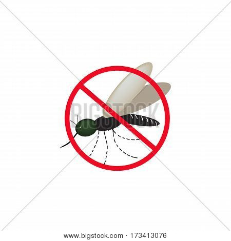 No mosquitoes. Vector illustrations isolated on background.