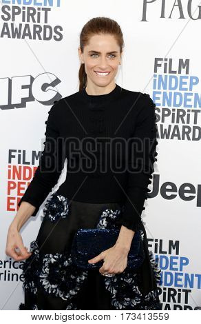 Amanda Peet at the 2017 Film Independent Spirit Awards held at the Santa Monica Pier in Santa Monica, USA on February 25, 2017.