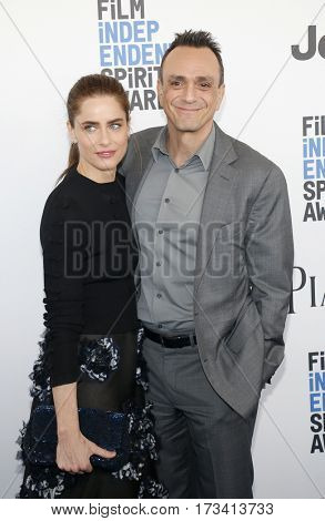 Amanda Peet and Hank Azaria at the 2017 Film Independent Spirit Awards held at the Santa Monica Pier in Santa Monica, USA on February 25, 2017.