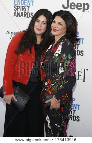 Tara Touzie and Shohreh Aghdashloo at the 2017 Film Independent Spirit Awards held at the Santa Monica Pier in Santa Monica, USA on February 25, 2017.