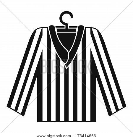 Striped pajama shirt icon. Simple illustration of striped pajama shirt vector icon for web
