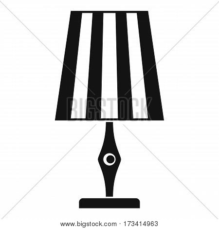 Table lamp icon. Simple illustration of table lamp vector icon for web