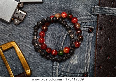 Mens accessories and clothing. Stylish men's fashion items