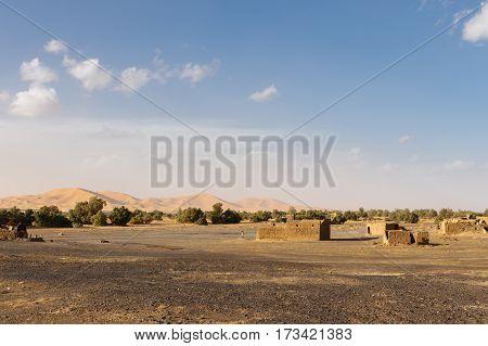 Berber village near the Erg Chebbi dune Morocco