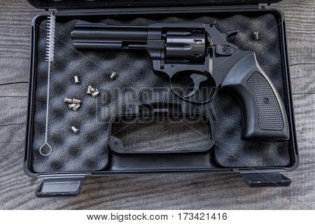 Black Gun In A Case.