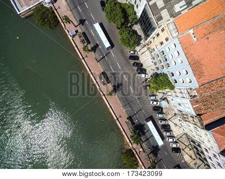Top View of Rua Aurora, Recife, Brazil