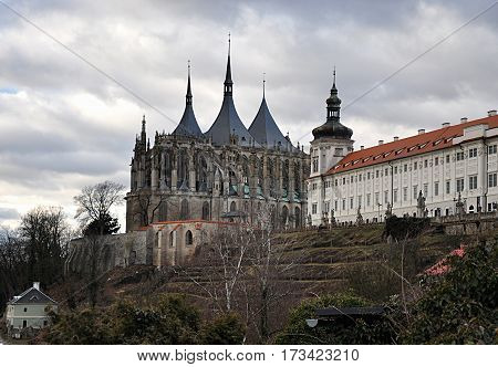 Church and temple, Kutna Hora, Czech Republic, Europe