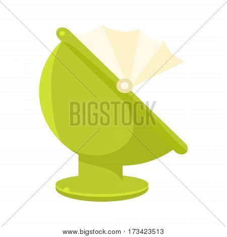 Green Plastic Round Chair With Hood, Object From Baby Room, Happy Childhood Cute Illustration. Part Of Happy Childhood And Infancy Isolated Cartoon Items Series.