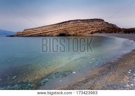 Matala village beach at  Crete -  Greece