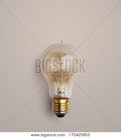 Pastel Light Bulb On Pastel Background, Light Bulb Creative Ideas Background Concept.
