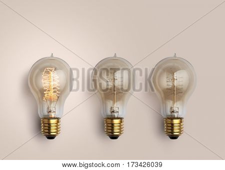 Pastel Light Bulbs On Pastel Background, Light Bulb Creative Ideas Background Concept.