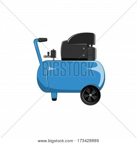Air compressor in flat style vector illustration.