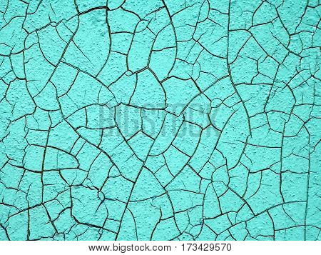 Light aquamarine wall, abstract texture for background