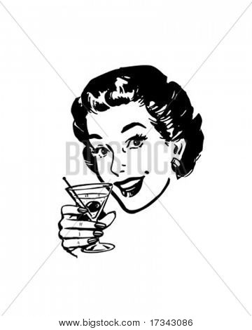 Martini Toast - Retro ClipArt