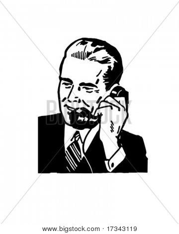 Business Call - Retro Clip Art