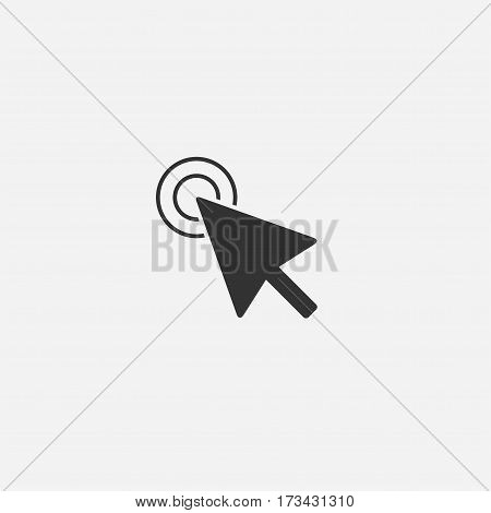 Mouse cursor flat style design vector icon