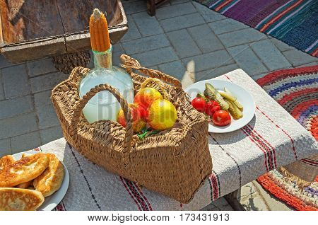Ukrainian traditional rural food festival dedicated to the City Day